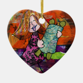 Girl with Torah Christmas Ornament