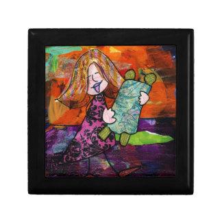 Girl with Torah Gift Box