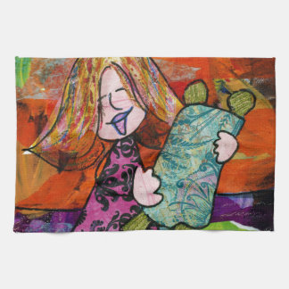 Girl with Torah Tea Towel