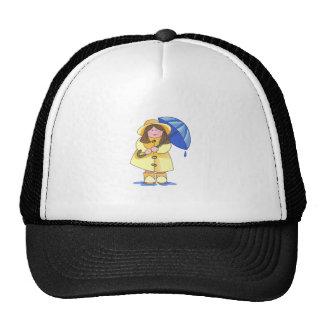 GIRL WITH UMBRELLA TRUCKER HAT