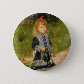 Girl with Watering Can 6 Cm Round Badge