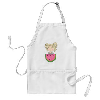 Girl With Watermelon Standard Apron