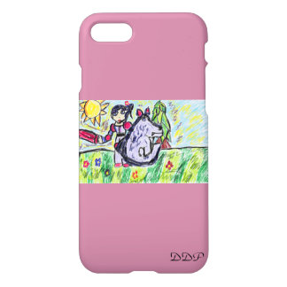 girl wolf iPhone 8/7 case