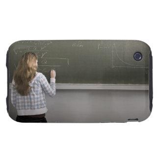 Girl writing on blackboard iPhone 3 tough cases