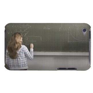 Girl writing on blackboard barely there iPod covers