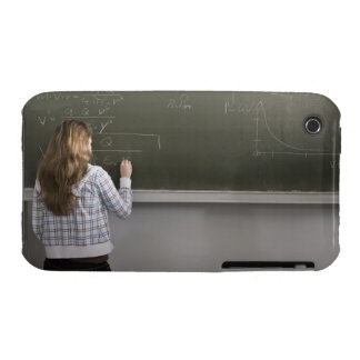 Girl writing on blackboard Case-Mate iPhone 3 case