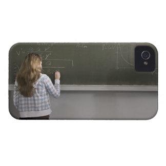 Girl writing on blackboard Case-Mate iPhone 4 cases