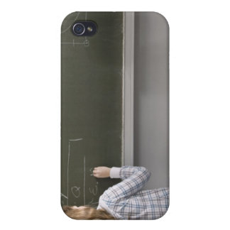 Girl writing on blackboard iPhone 4 case