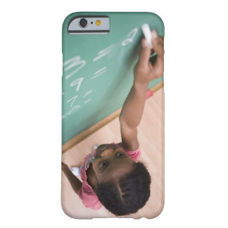 Girl writing on chalkboard barely there iPhone 6 case
