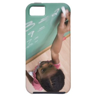 Girl writing on chalkboard case for the iPhone 5
