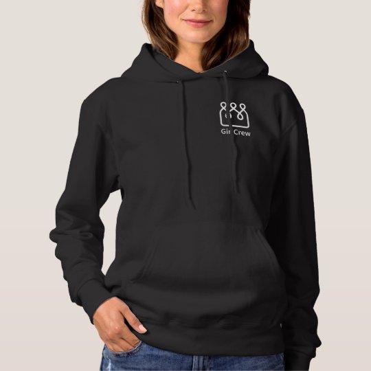 GirlCrew Women's Black Hoody with Logo