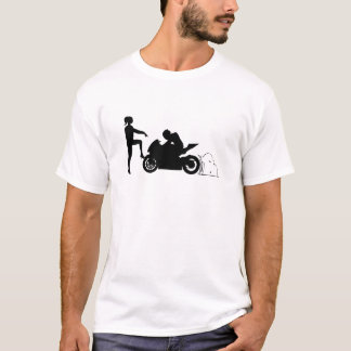 Girlfriend and motorcycle T-Shirt
