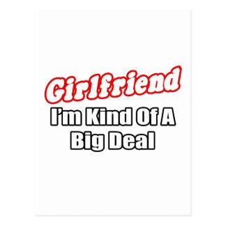 Girlfriend...Big Deal Postcard