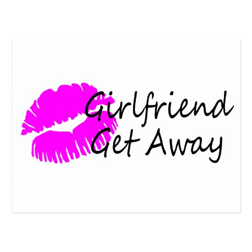 Girlfriend Get Away (Pink Kiss) Postcard