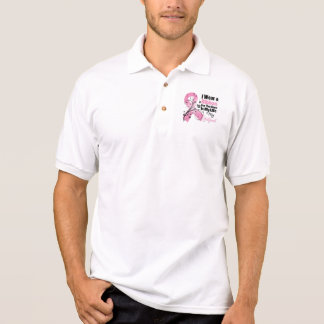 Girlfriend Hero in My Life Breast Cancer Polo T-shirts