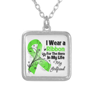 Girlfriend Hero in My Life Lymphoma Ribbon Square Pendant Necklace