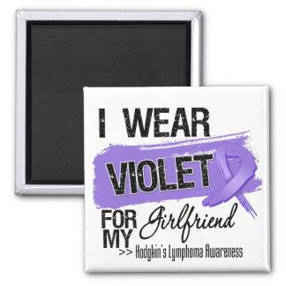 Girlfriend Hodgkins Lymphoma Ribbon Magnets