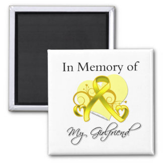 Girlfriend - In Memory of Military Tribute Refrigerator Magnets