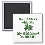 Girlfriend is Irish Refrigerator Magnets