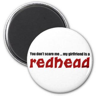 Girlfriend is Redhead 6 Cm Round Magnet