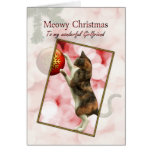 Girlfriend, Meowy Christmas Greeting Card