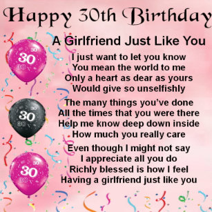 Girlfriends 30th Birthday Gifts Gift Ideas
