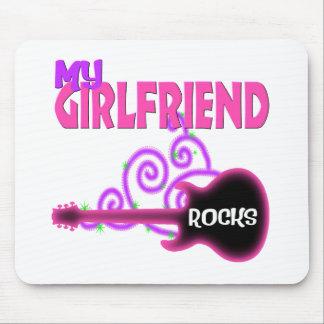 Girlfriend Rocks Guitar Mouse Pads
