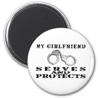 Girlfriend Serves Protects - Hat Magnet