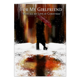 Girlfriend Stylish Christmas Holiday Card