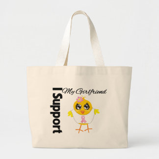 Girlfriend Support Breast Cancer Canvas Bag