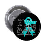 Girlfriend - Teal Awareness Ribbon 6 Cm Round Badge