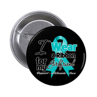 Girlfriend - Teal Awareness Ribbon 6 Cm Round Badge