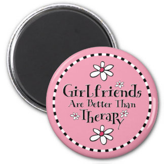 Girlfriend Therapy 6 Cm Round Magnet