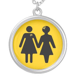 girlfriend x-ing icon round pendant necklace