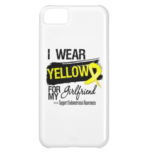 Girlfriend Yellow Ribbon Endometriosis iPhone 5C Case