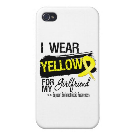 Girlfriend Yellow Ribbon Endometriosis iPhone 4 Case