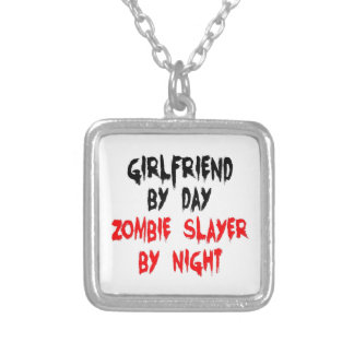 Girlfriend Zombie Slayer Square Pendant Necklace