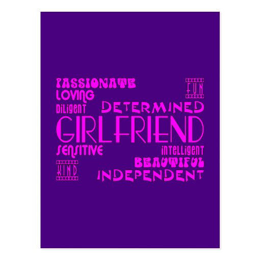 Girlfriends Birthday Parties & Christmas Qualities Postcard