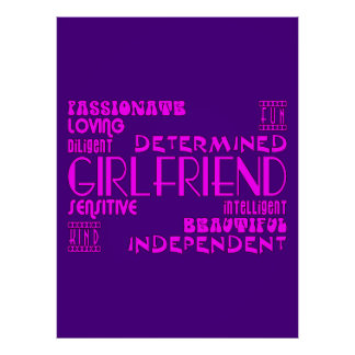 Girlfriends Birthday Parties & Christmas Qualities Posters