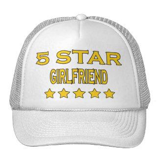 Girlfriends Birthdays Valentines 5 Star Girlfriend Mesh Hat