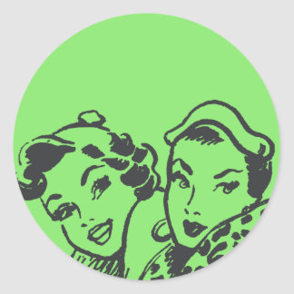 Girlfriends Classic Round Sticker