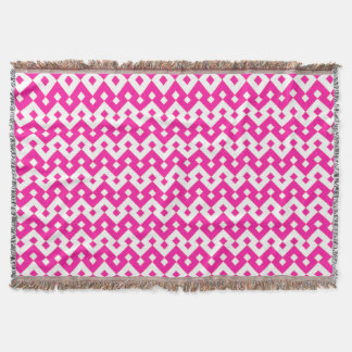 Girlie Candy Pink and White Chevrons Throw Blanket