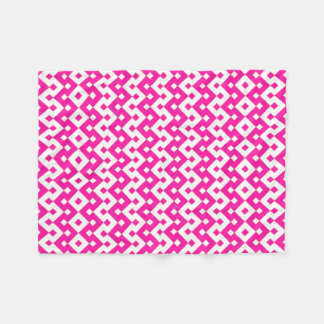 Girlie Candy Pink and White Fleece Blanket