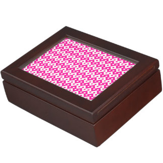 Girlie Candy Pink and White Wooden Keepsake Box
