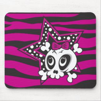 Girlie Emo Skull Mouse Pads