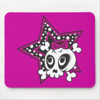 Girlie Emo Skull Mousepads