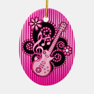Girlie Guitar Christmas Ornament