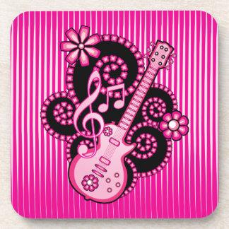 Girlie Guitar Beverage Coaster