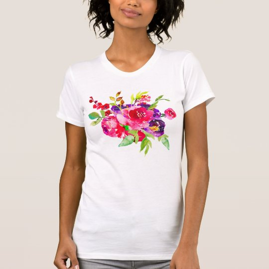 Girlie Multifloral Pink Bouquet T-Shirt