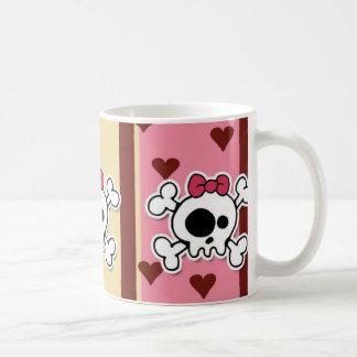 girlie skull coffee mug